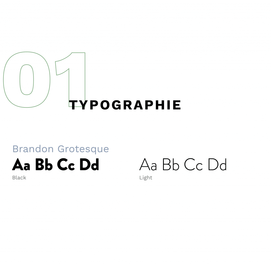 Typographie choisie : Brandon Grostesque