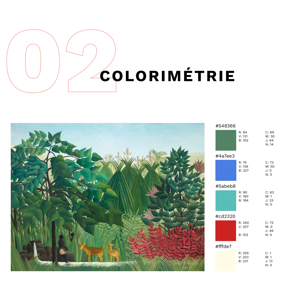 colorimétrie avec pour exemple un tableau de Rousseau