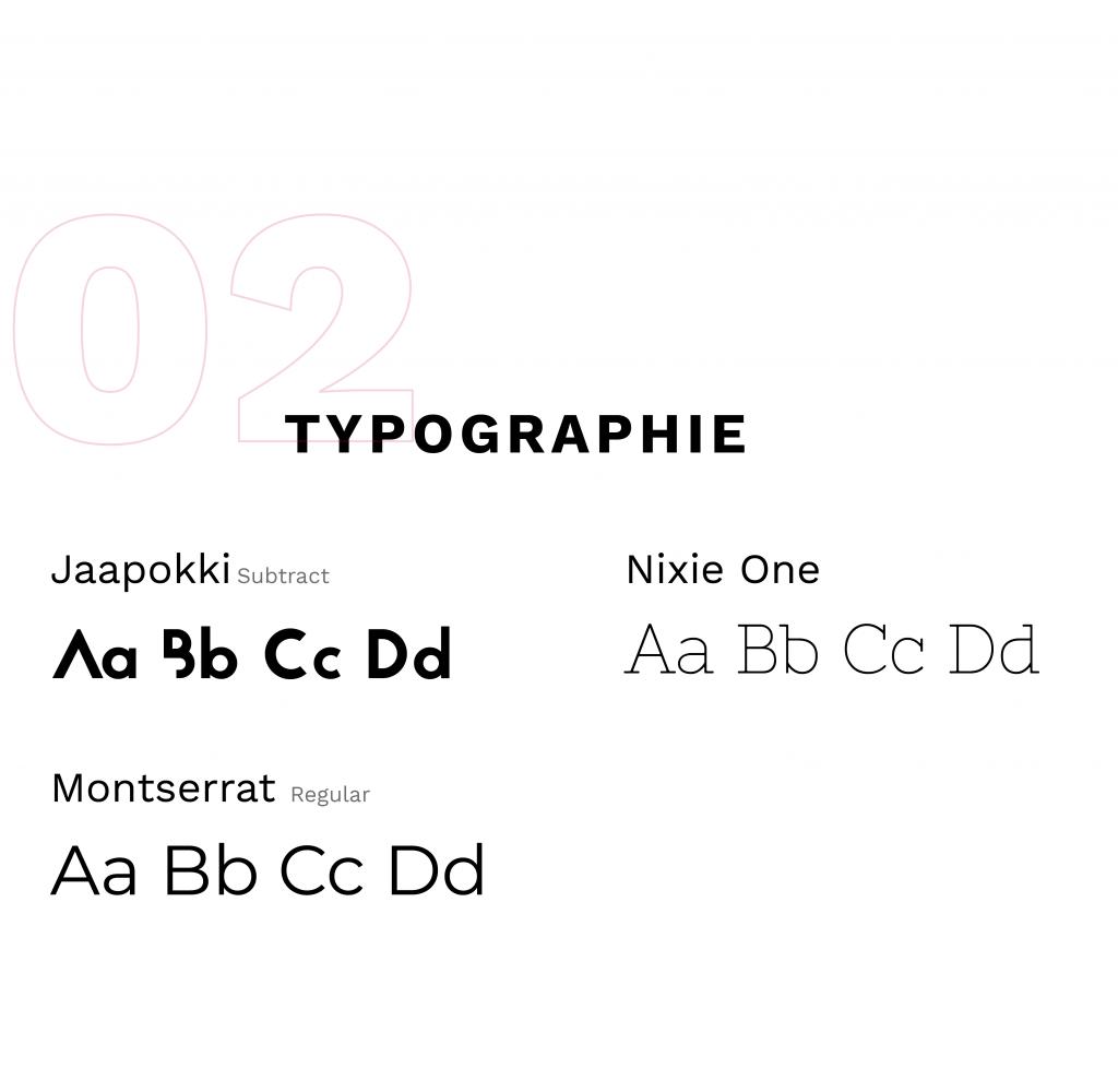 essais typographiques : jaapokki, nixie one, montserrat